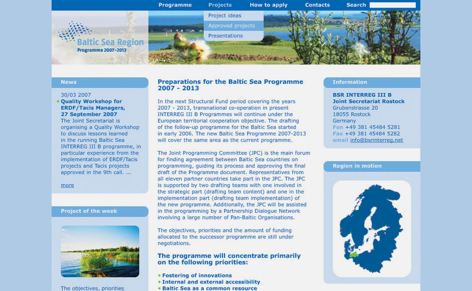 Baltic Sea Region Web