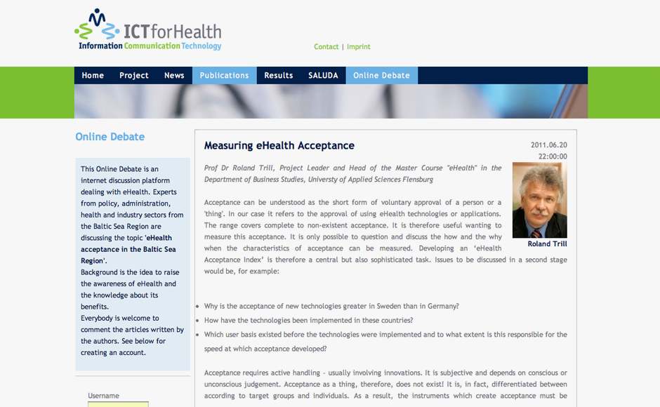 ICT for Health Web